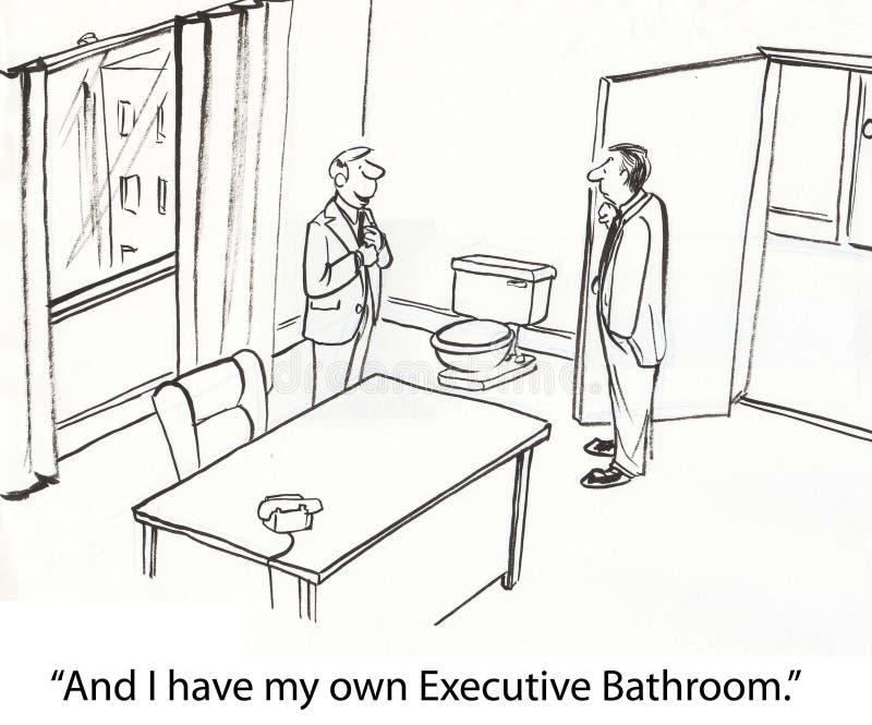 экзекьютив ванной комнаты иллюстрация вектора