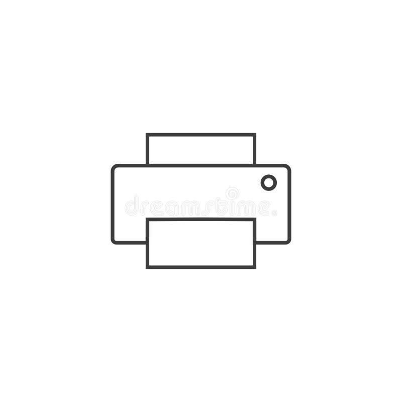Экземпляр, прибор, значок принтера r иллюстрация вектора