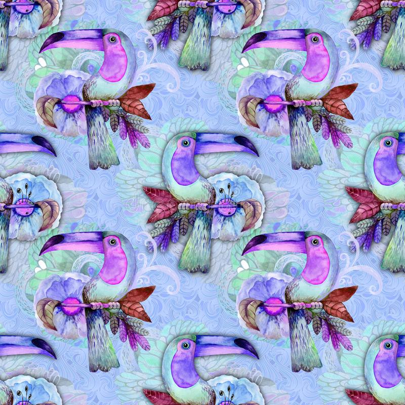 Экзотическая птица на голубой предпосылке бесплатная иллюстрация