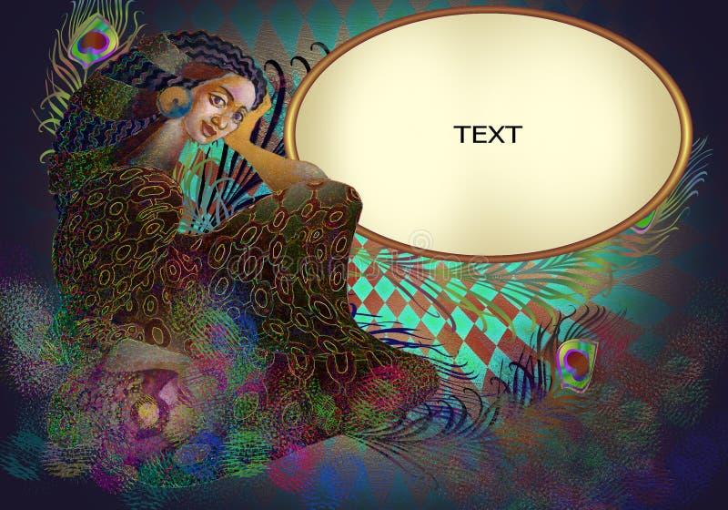 экзотическая славная девушка стоковое изображение rf
