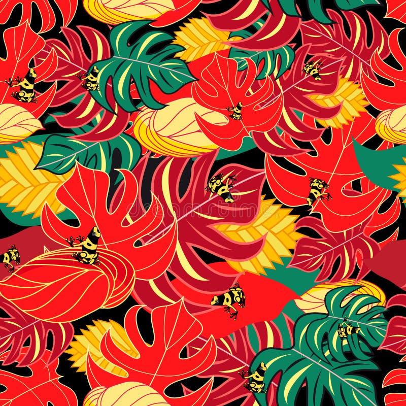 Экзотические лягушки картины и джунглей бесплатная иллюстрация