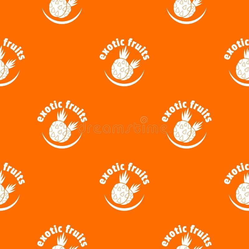 Экзотический апельсин вектора картины плодов иллюстрация вектора