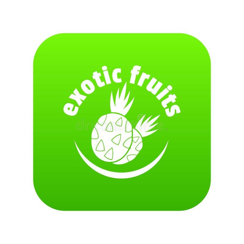 Экзотический вектор зеленого цвета значка плодоовощей бесплатная иллюстрация
