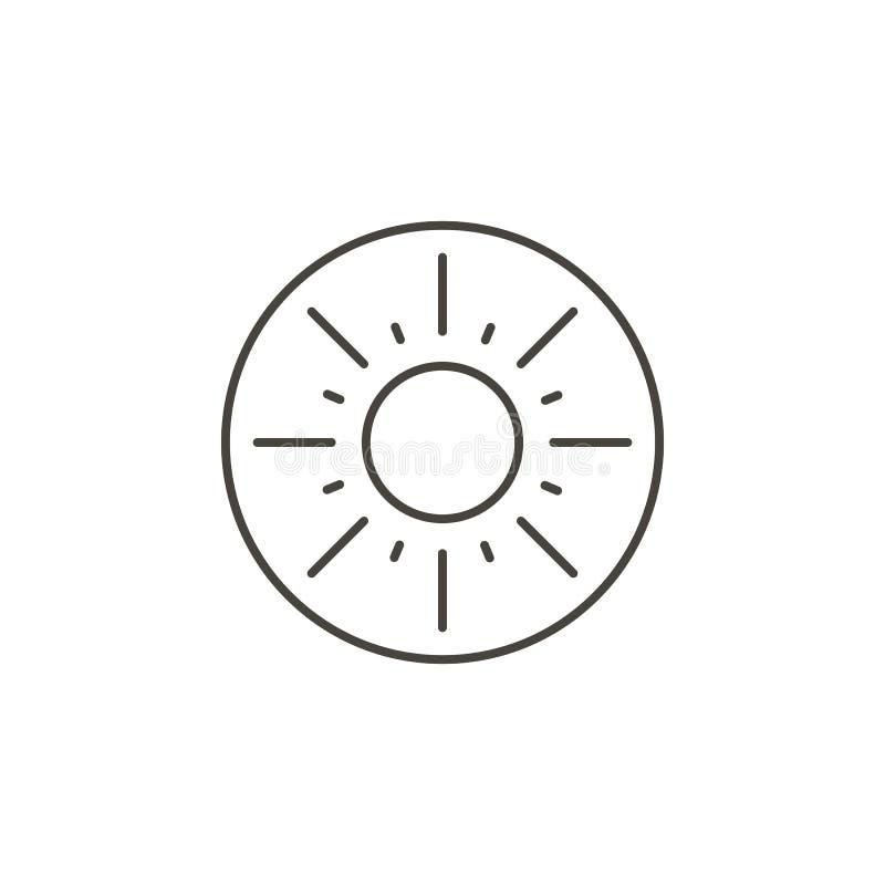 Экзотический плод, значок вектора кивиа Простая иллюстрация элемента от концепции еды Экзотический плод, значок вектора кивиа Кон иллюстрация штока