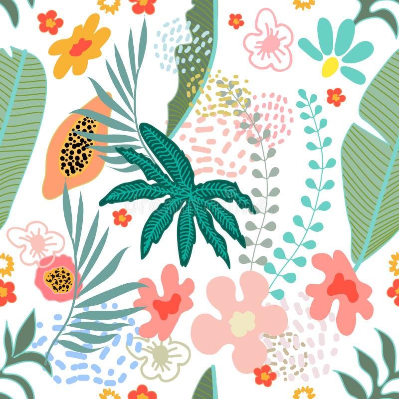 Экзотическое цветение сада иллюстрация штока