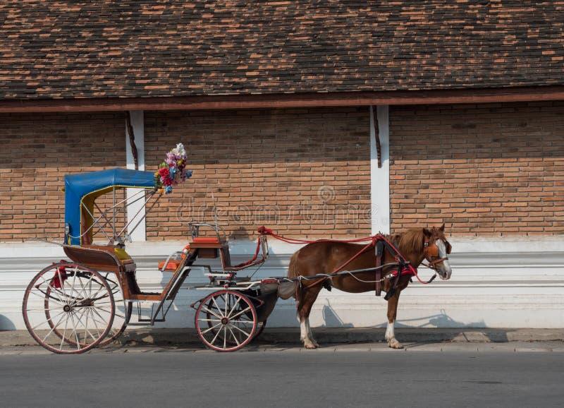 Экипажи лошади в Таиланде стоковые изображения