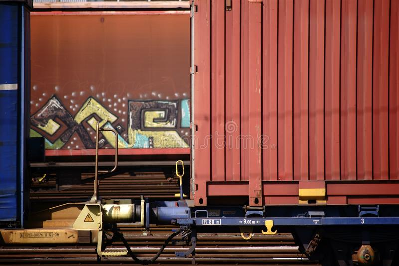экипаж железной дороги Кудел-бара стоковое изображение