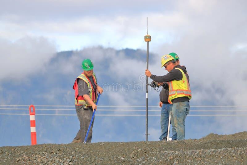 Экипаж и строительство дорог обзора стоковые фотографии rf