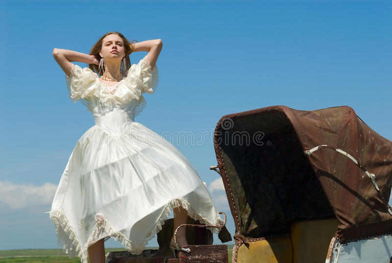 экипаж невесты стоковая фотография