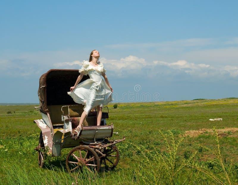 экипаж невесты стоковые изображения rf