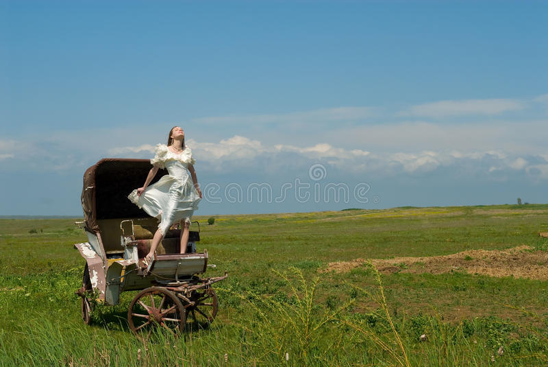 экипаж невесты стоковое фото rf