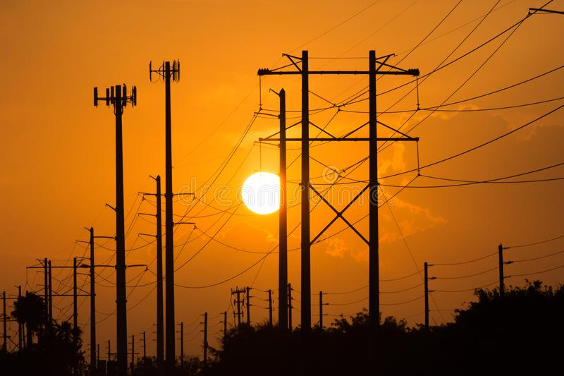 Эклектичные линии электропередач стоковое фото rf