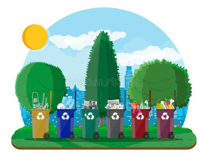 Экологическая концепция образа жизни бесплатная иллюстрация