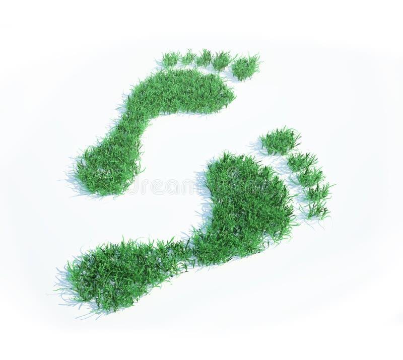 экологический след ноги иллюстрация штока