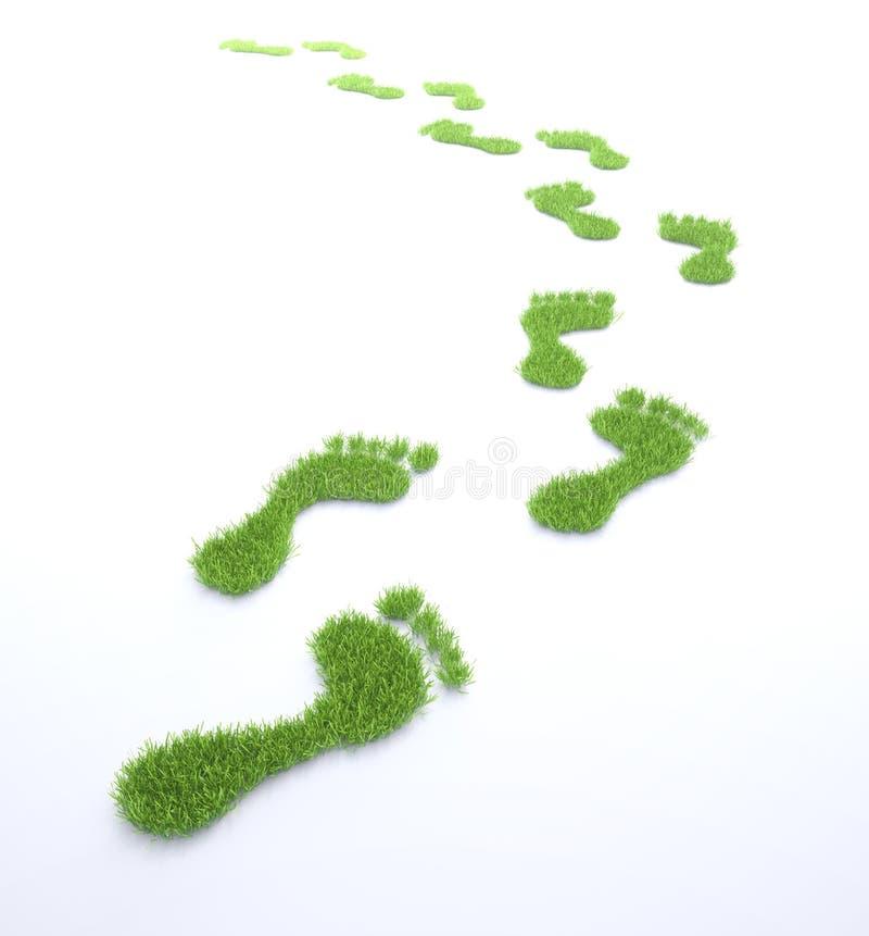 Экологический след ноги иллюстрация вектора