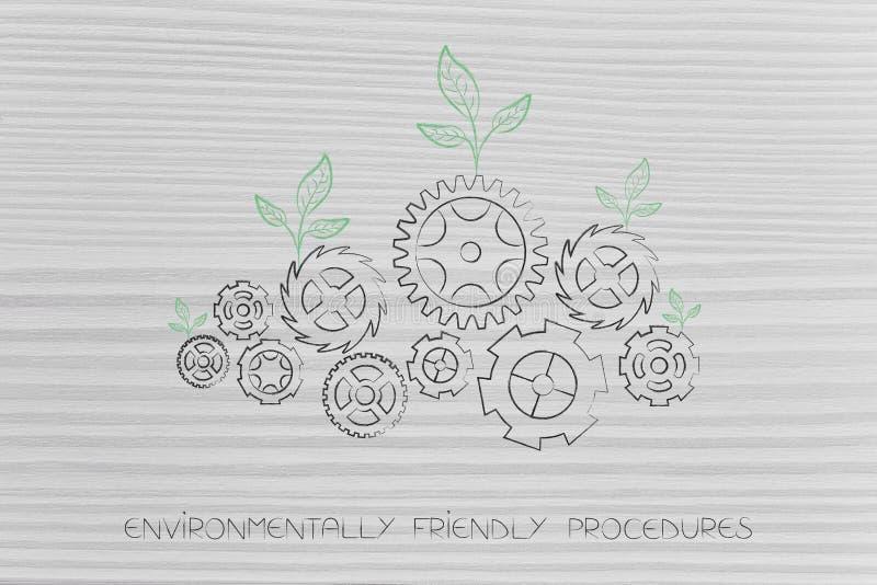 Экологически дружелюбный механизм экологичности процедур с разрешением бесплатная иллюстрация