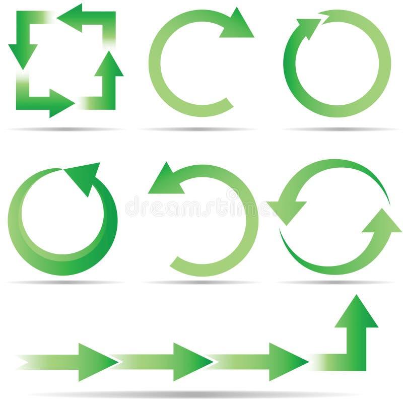 экологичность круга полная иллюстрация вектора