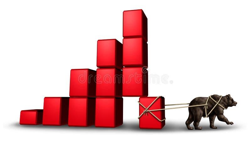 Экономика медведя иллюстрация штока