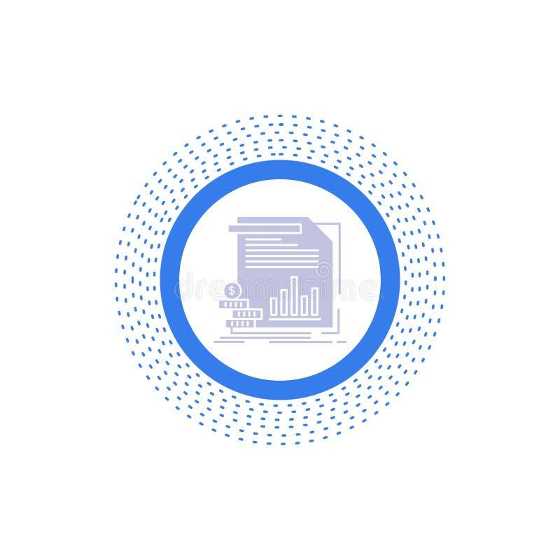 экономика, финансы, деньги, информация, значок глифа отчетов Иллюстрация изолированная вектором бесплатная иллюстрация
