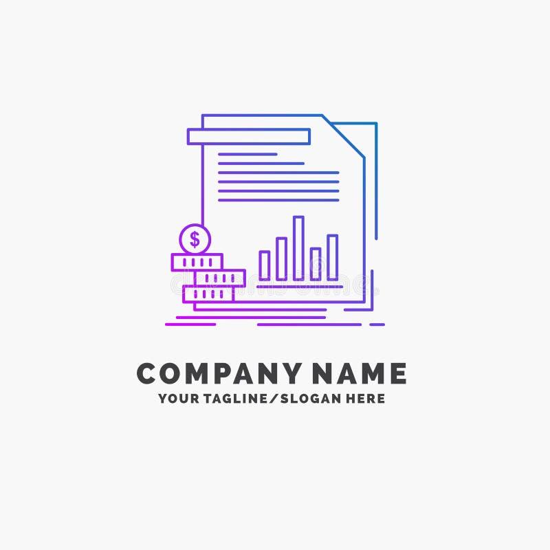 экономика, финансы, деньги, информация, шаблон логотипа дела отчетов пурпурный r бесплатная иллюстрация