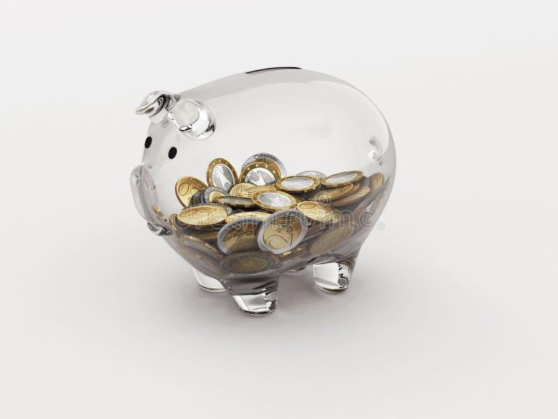 Экономическая прозрачность иллюстрация вектора