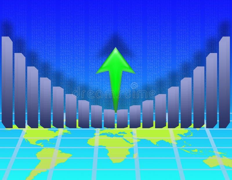 экономический рост иллюстрация штока