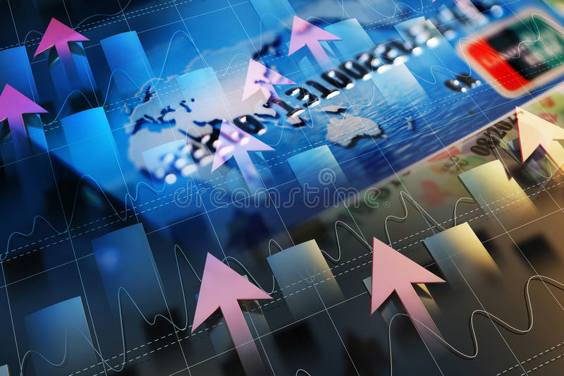 Экономическое развитие и стрелка бесплатная иллюстрация