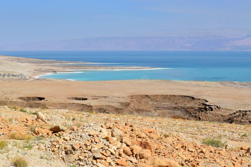 Экологическая катастрофа на мертвом море, Израиле стоковые изображения rf