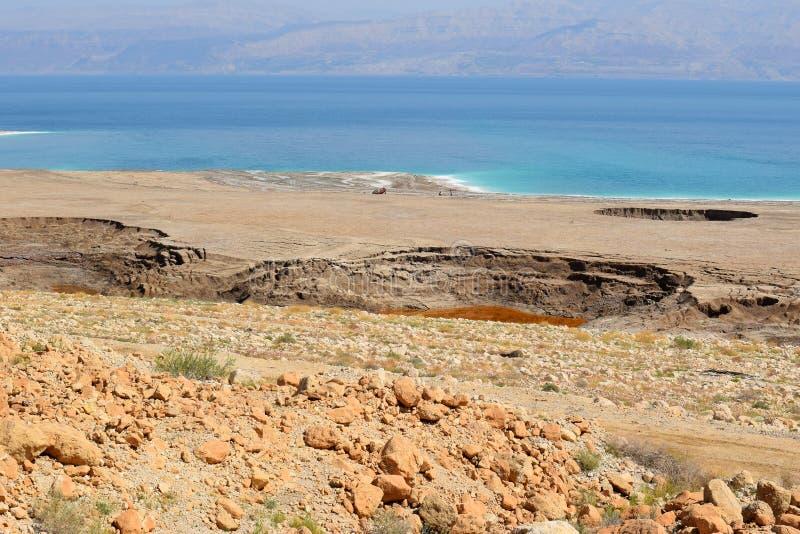 Экологическая катастрофа на мертвом море, Израиле стоковое фото
