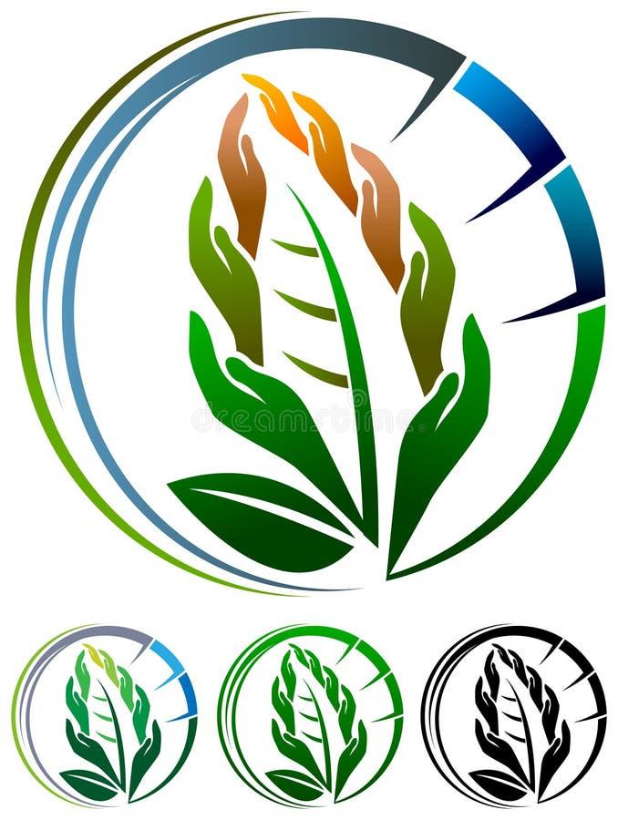 Экологический логотип иллюстрация штока