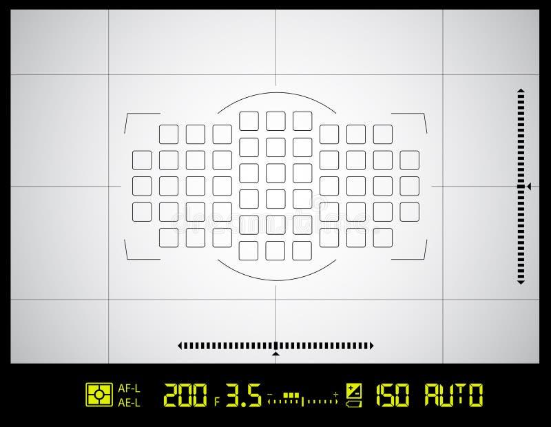 Экран видоискателя камеры бесплатная иллюстрация