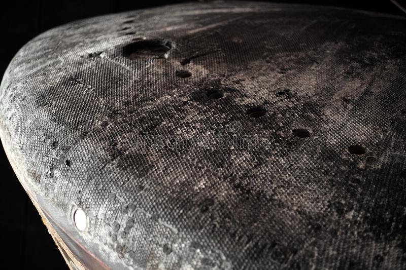 Экран входа в атмосферу капсулы команды Аполлона 12 стоковое изображение