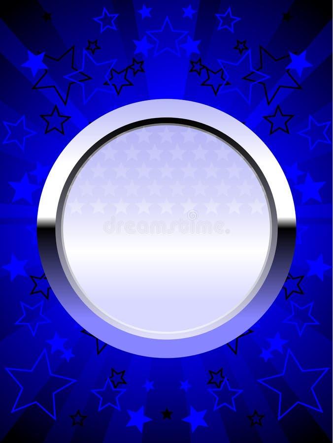 экран голубого крома патриотический иллюстрация штока