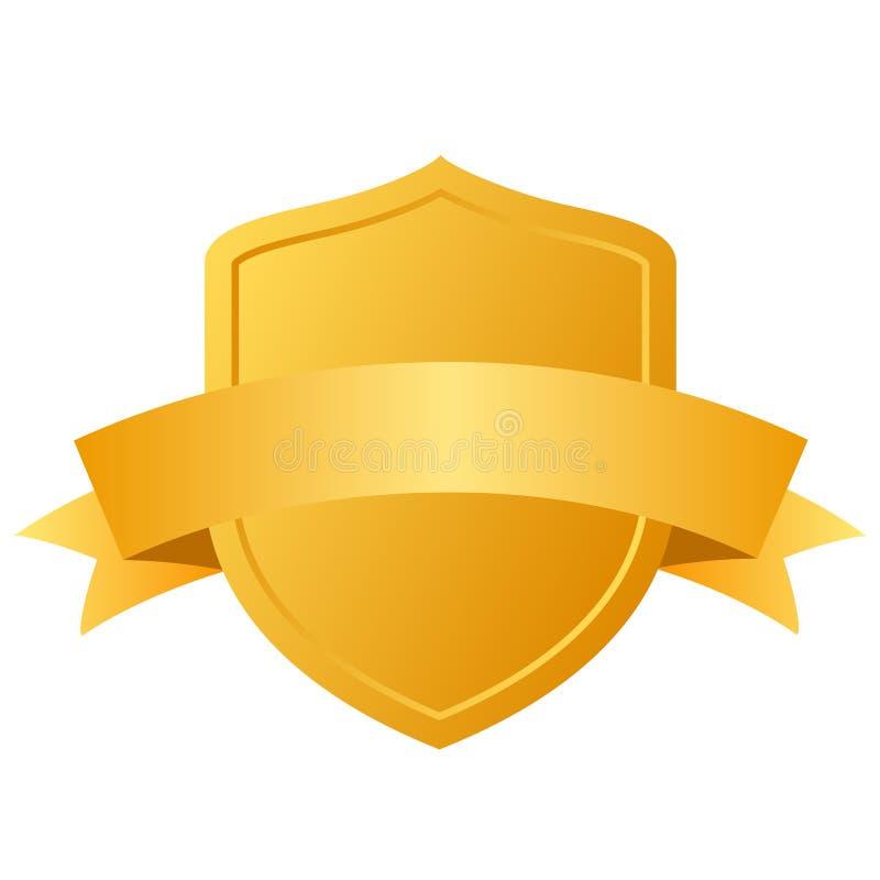 Экран золота иллюстрация штока