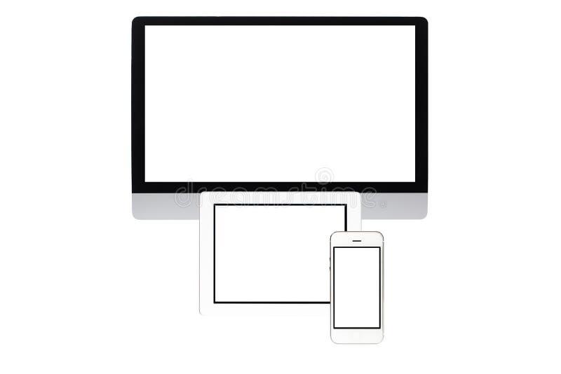 экран изолированный компьютером стоковые изображения rf