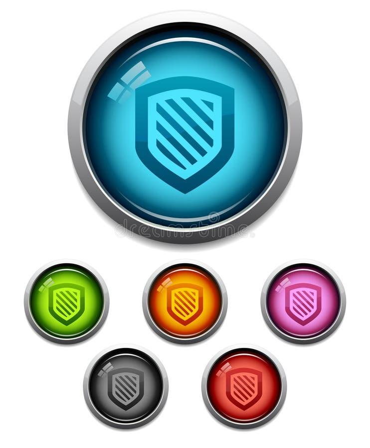 экран иконы кнопки иллюстрация вектора