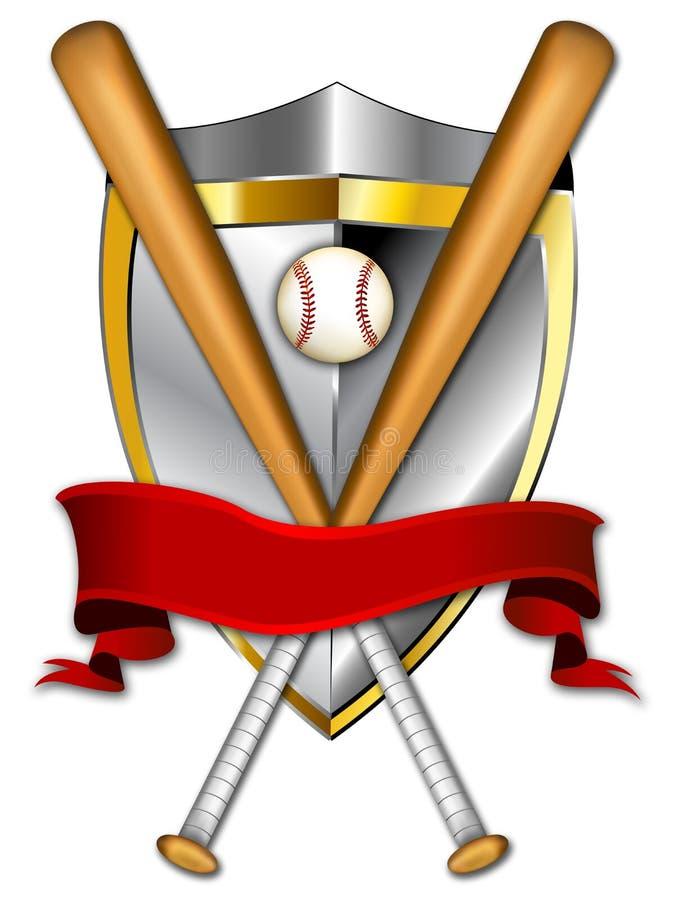 экран иллюстрации бейсбола знамени иллюстрация штока