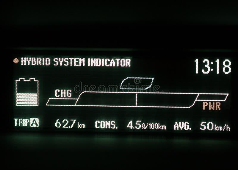 Download Экран дисплея гибридного автомобиля Стоковое Изображение - изображение насчитывающей части, потребление: 40583355