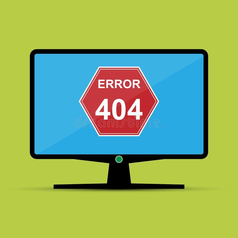 Экран монитора с сообщением об ошибках иллюстрация штока