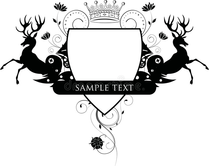 экран оленей флористический бесплатная иллюстрация