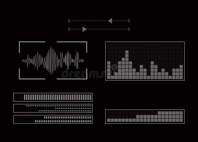 Экран с аудио программой бесплатная иллюстрация