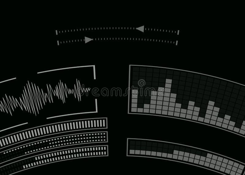 Экран с аудио программой иллюстрация вектора