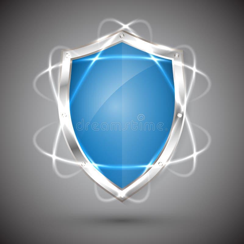 Экран с значком гарантии Обязательства ярлыка гарантии Знак гарантии Защитите значок Иллюстрация вектора безопасностью бесплатная иллюстрация