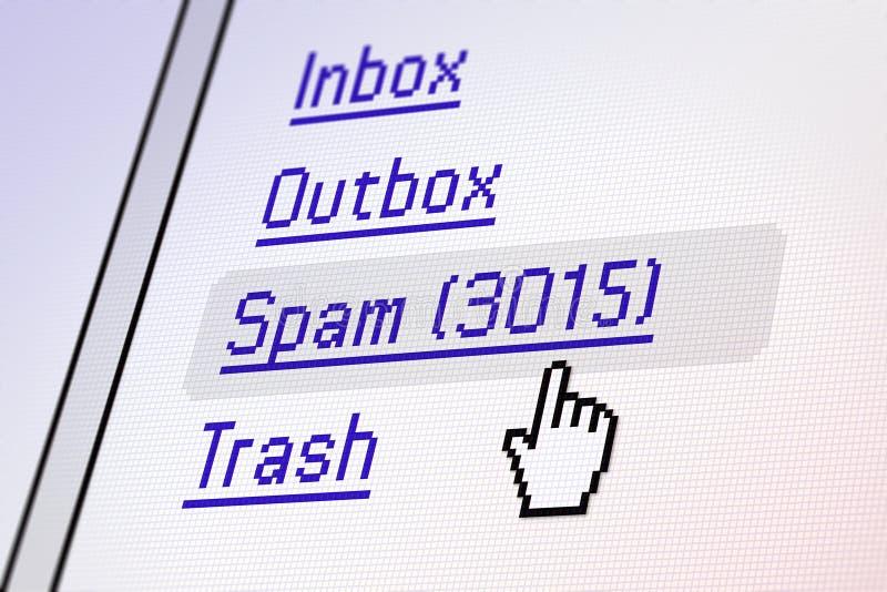 экран электронной почты стоковые изображения