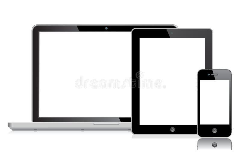 экран яблока иллюстрация вектора