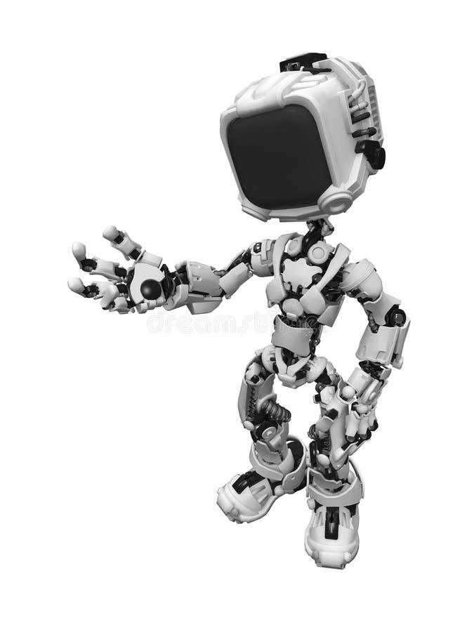 экран 2 роботов иллюстрация штока
