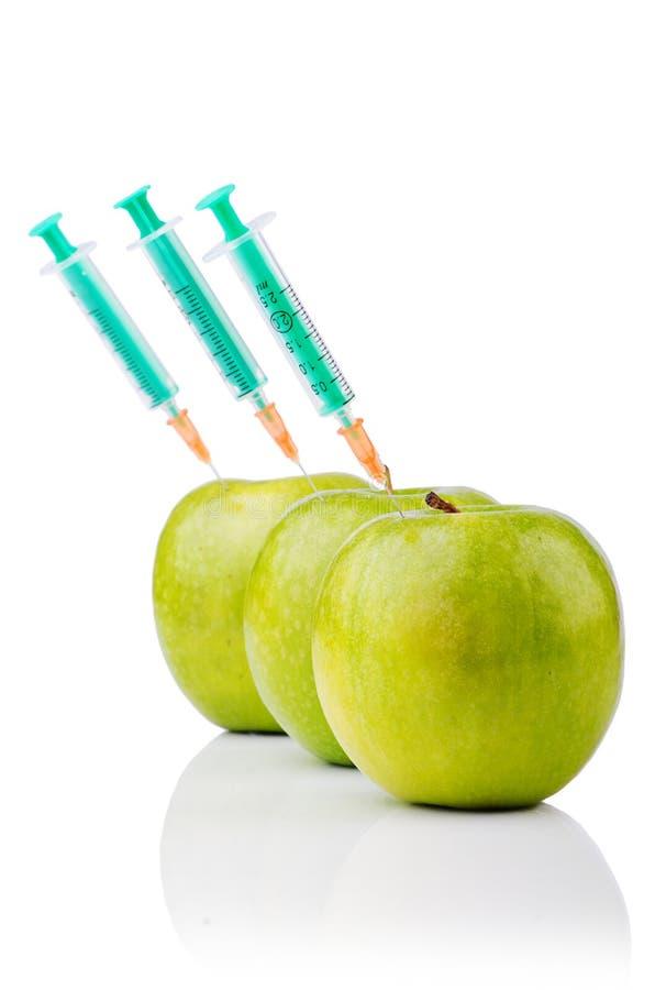 Эксперимент с яблоком стоковые фото