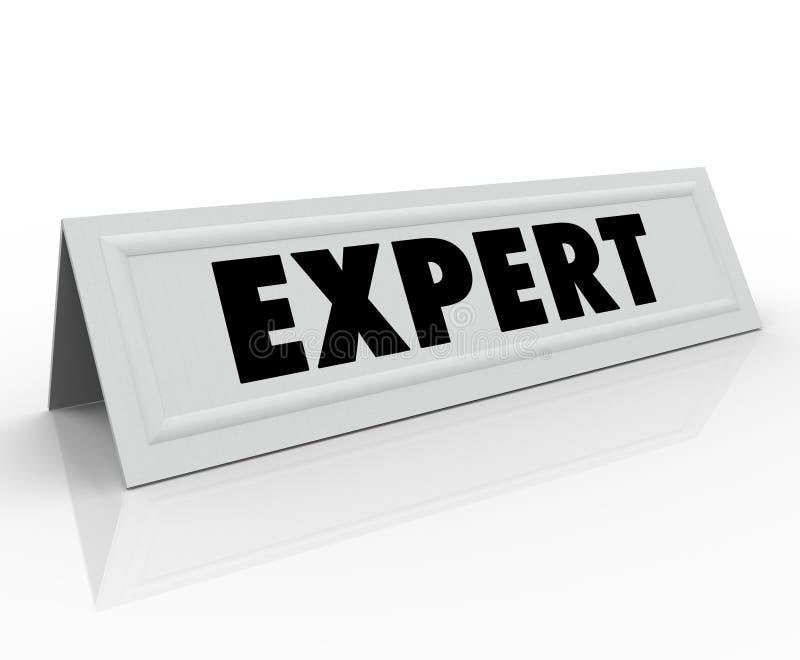 Экспертный опыт экспертизы приглашенного оратора карточки шатра имени иллюстрация вектора