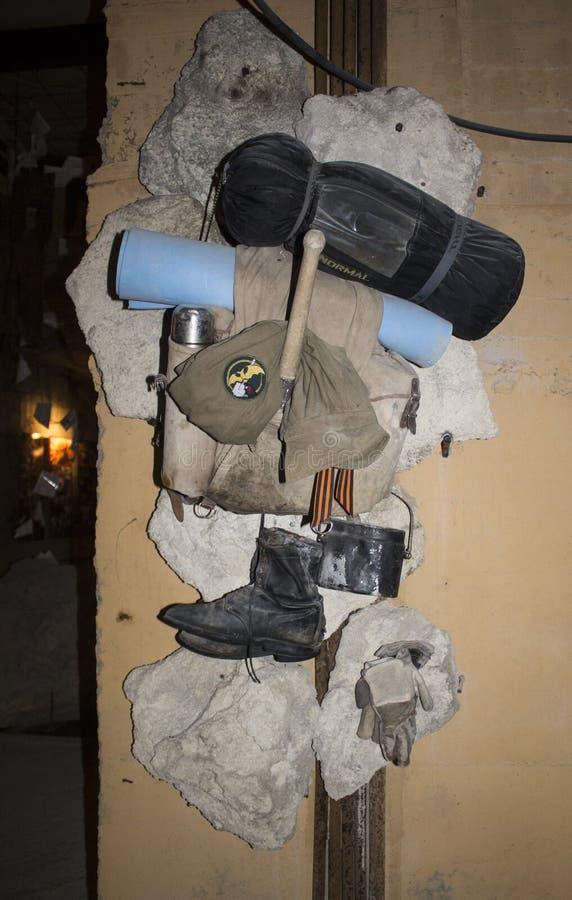 Экспонаты в карьерах Adzhimushkay музея Kerch стоковое фото