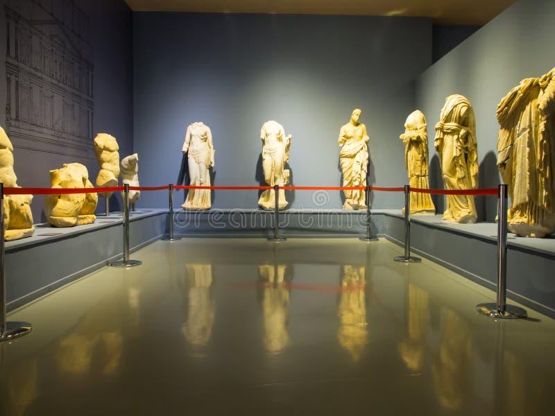 Экспонаты музея Ephesus стоковая фотография